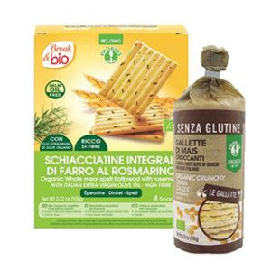Gallette crackers biscotti e snack salati